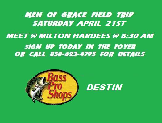 Men Of Grace Field Trip