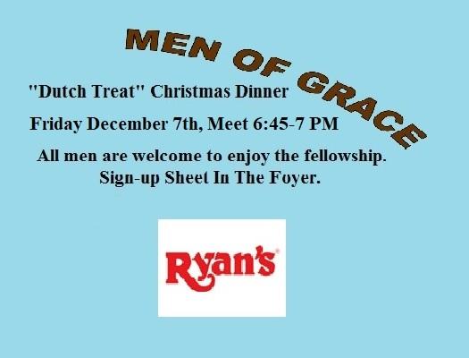 Men Of Grace Christmas @ Ryan's