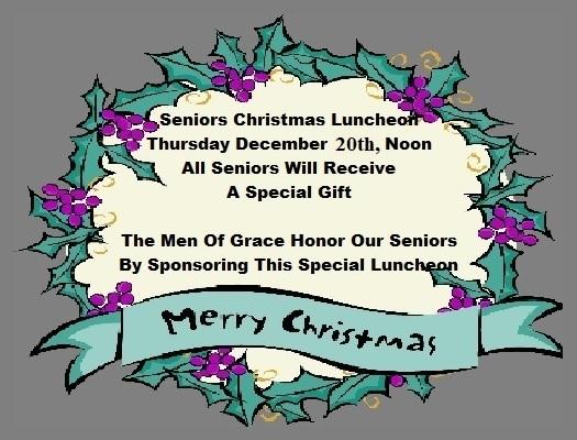 Sr. Adult Christmas Luncheon @ True Grace Fellowship Church