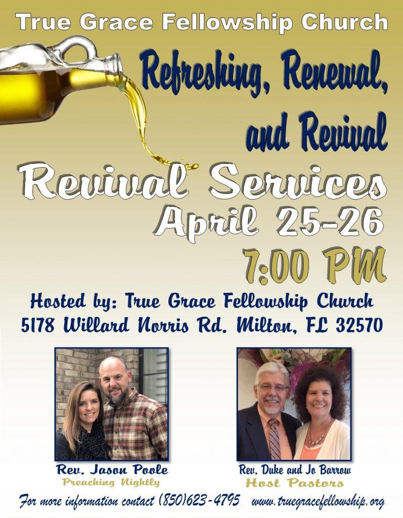 Revival Services @ True Grace Fellowship Church