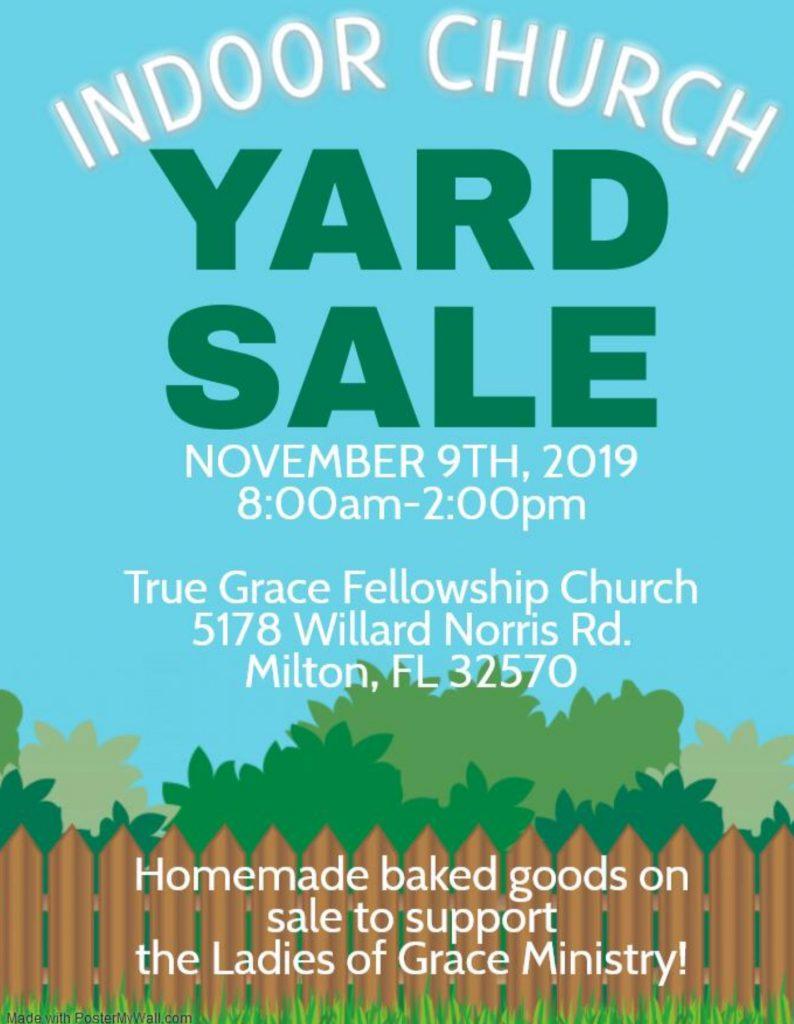 LOG Indoor Yard Sale @ True Grace Fellowship Church